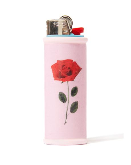 Single Rose Lighter Case