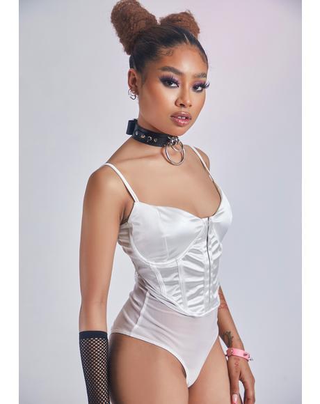 Pearl Posh Prodigy Satin Corset Bodysuit