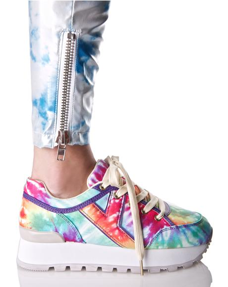 Tune Rainbow Tie Dye Sneakers