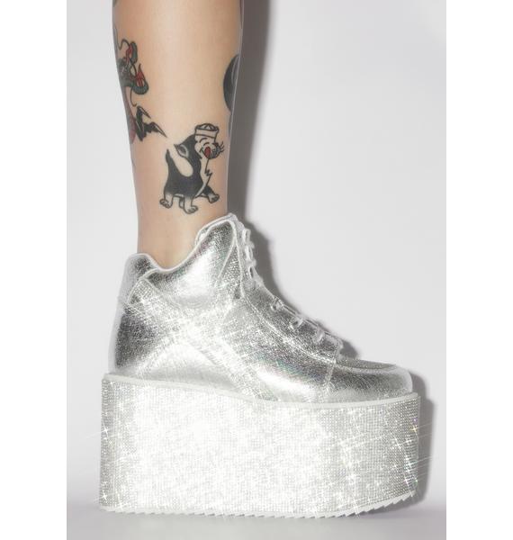 Y.R.U. Qozmo Hi Qrystal Platform Sneakers
