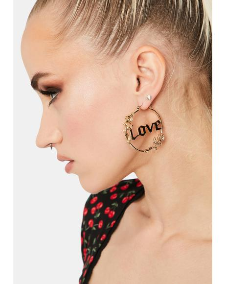 Forever Lover Hoop Earrings