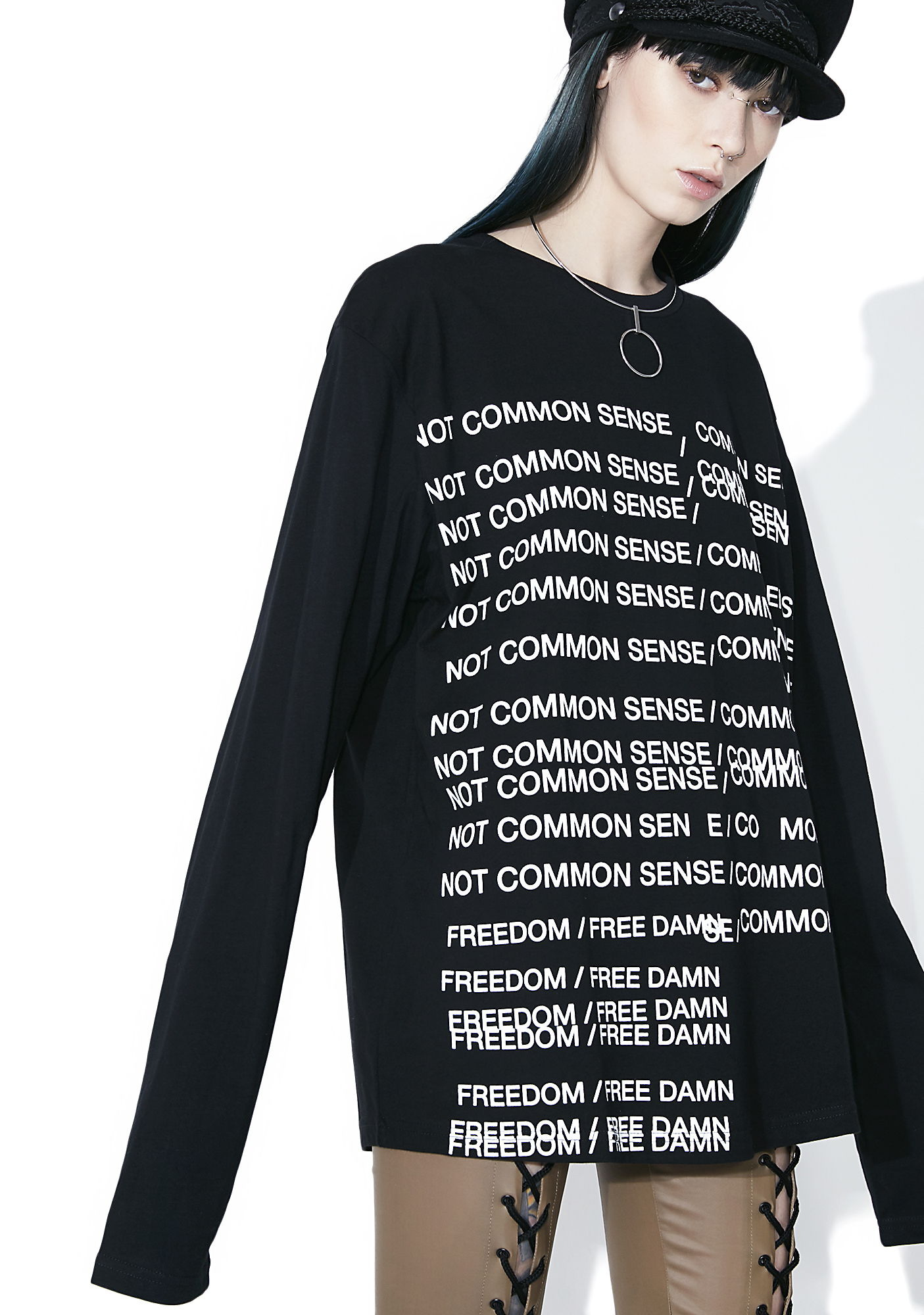 Not Common Sense Guilty Long Sleeve Tee