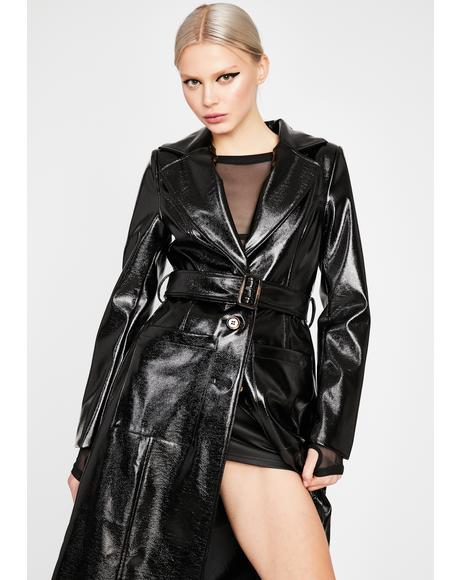 Tragic Drama Addict Trench Coat