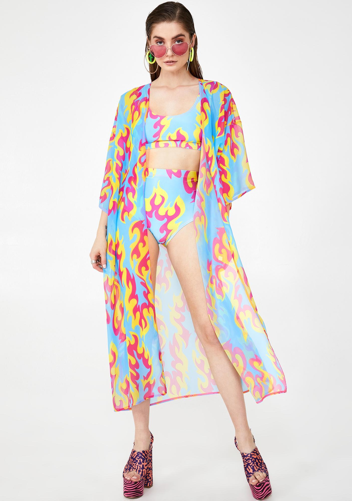 Tara Khorzad Flame Kimono