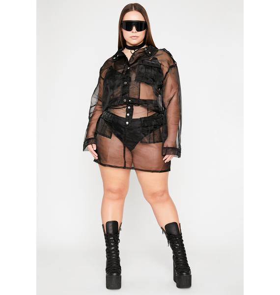 Sinister She's Cotton Candid Sheer Set