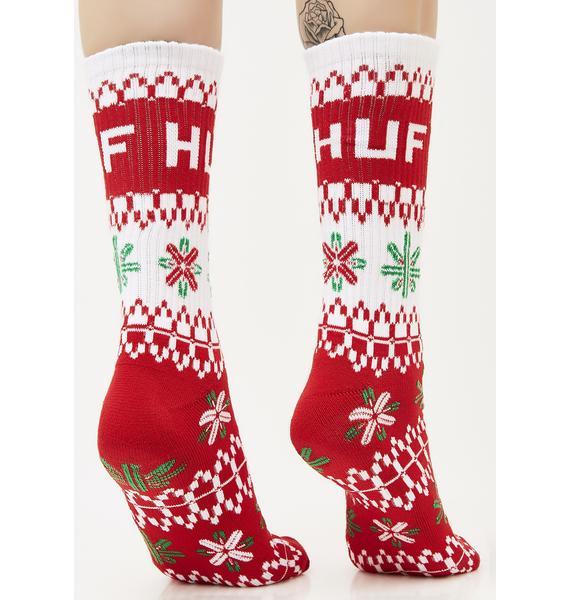 HUF Huf Holiday Sweater Socks