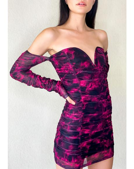 Burn Notice Off The Shoulder Dress