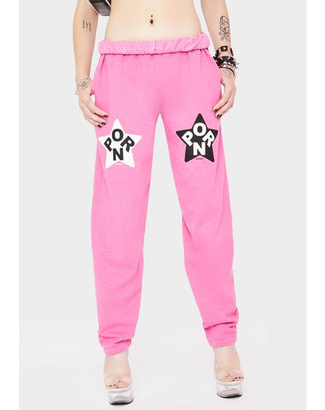 Pink Porn Star Jogger Sweatpants