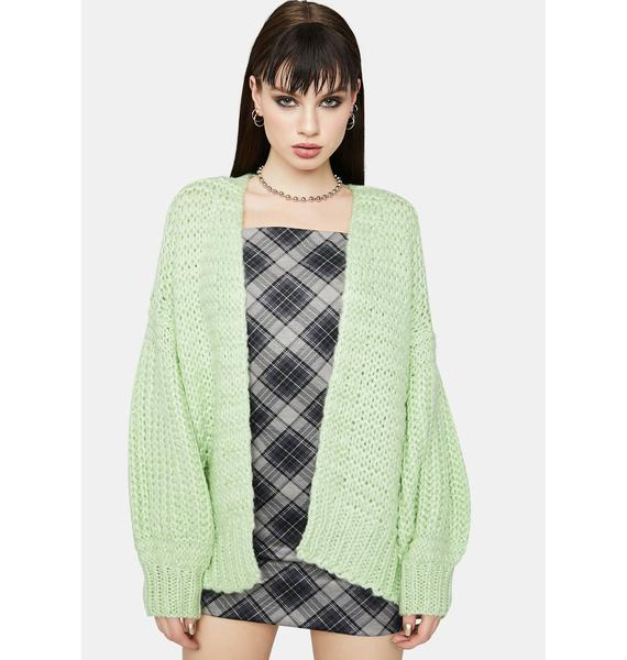 Touched By An Angel Open Front Knit Cardigan