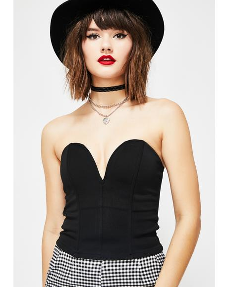 Raven The Cool Girls Strapless Bustier