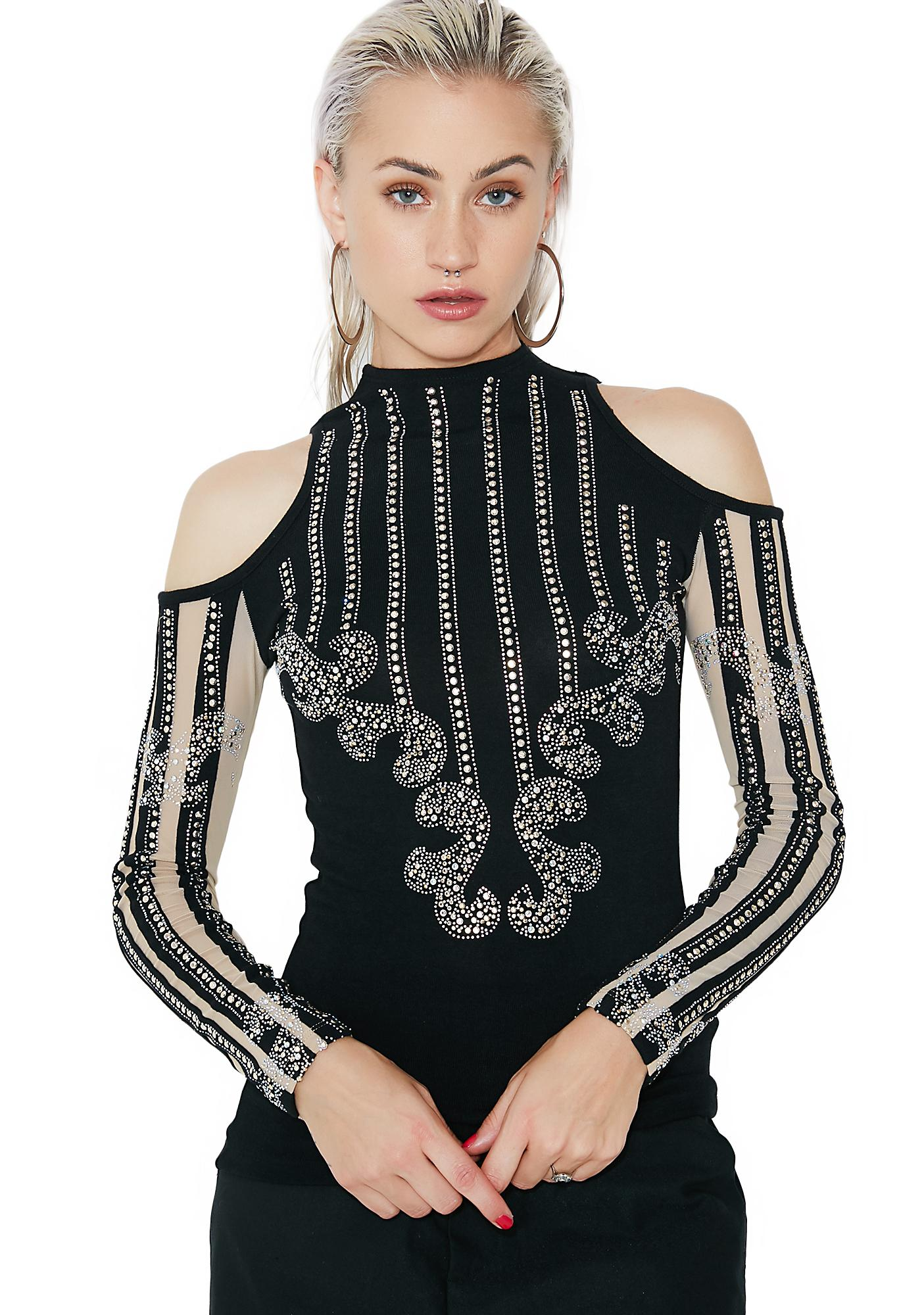 Kiki Riki High Maintenance Embellished Top