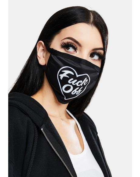F Off Heart Face Mask