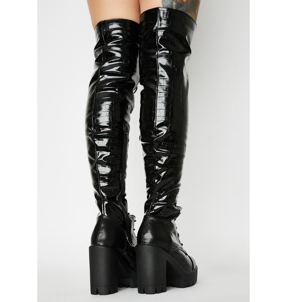 Fashion Blogger Knee High Boots