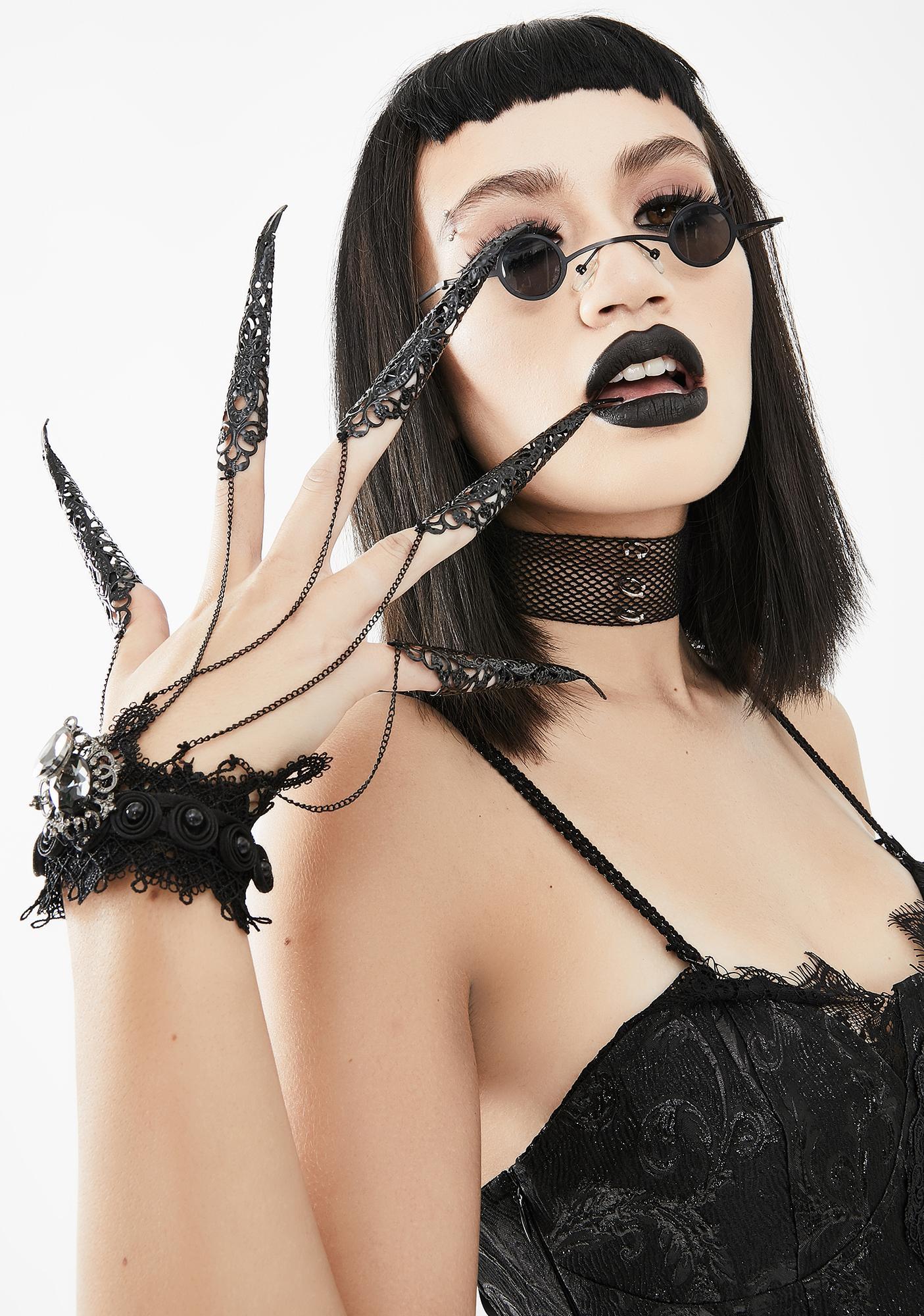 Devil Fashion Gothic Finger Chains