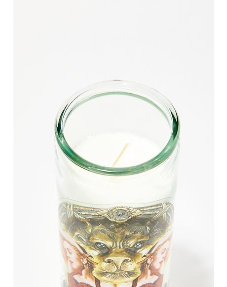 Our Lady Of Holiday Altar Candle