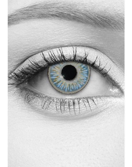 Sparkle Sapphire Contact Lenses
