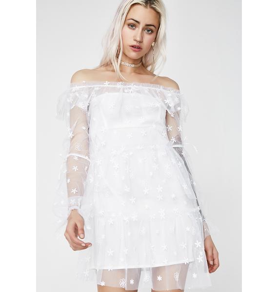 For Love & Lemons Claudia Off Shoulder Tulle Dress