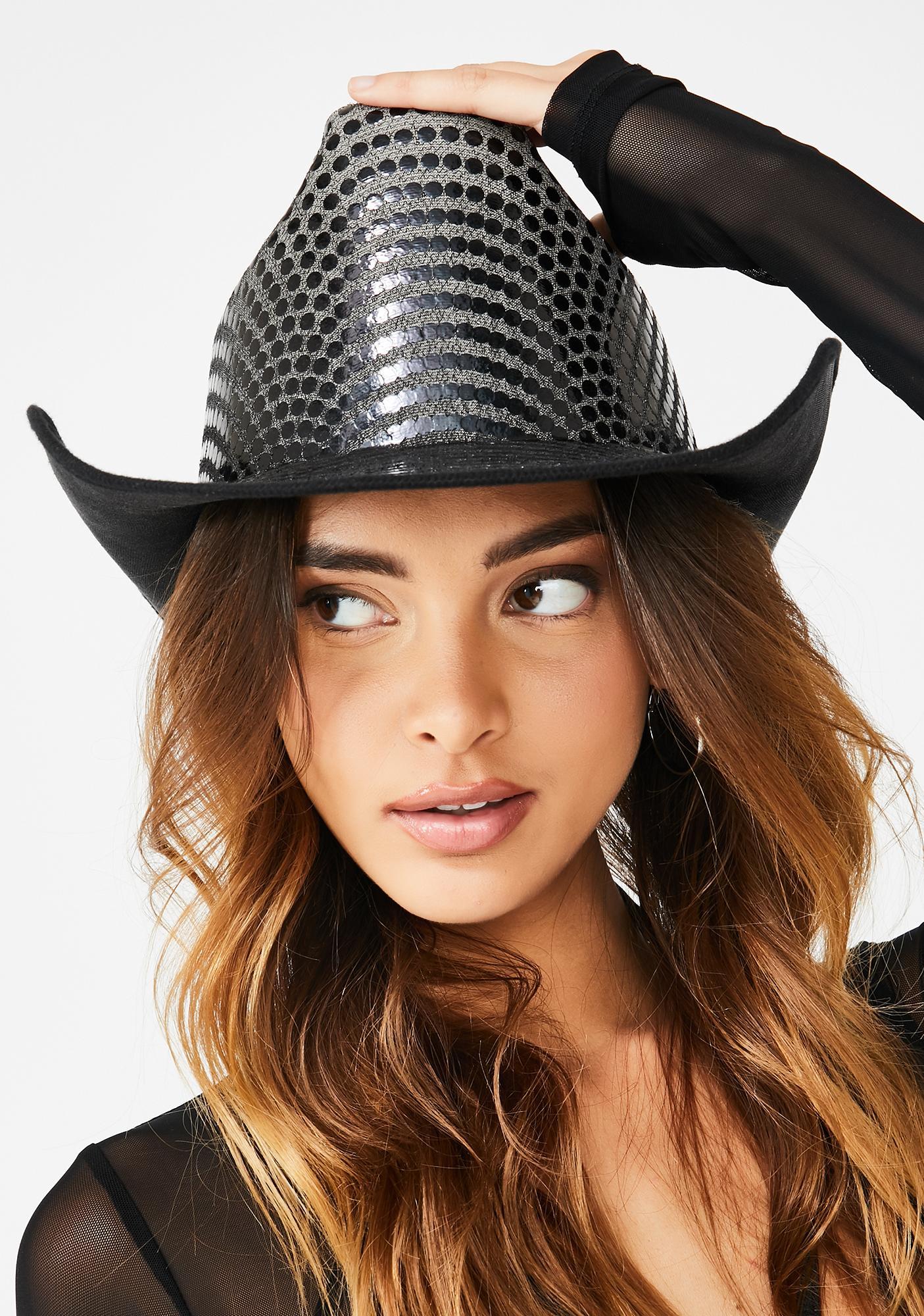 Replay Vintage Sunglasses Disco Belle Sequin Cowboy Hat