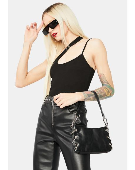 Location Sent Asymmetrical Crop Top