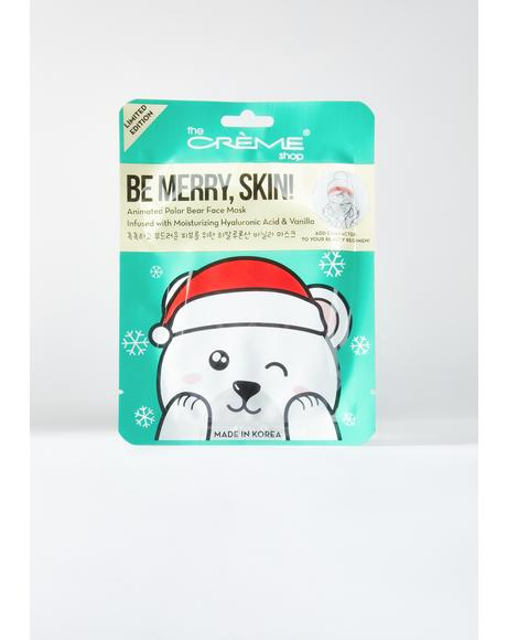 Be Merry Skin! Animated Sheet Mask Polar Bear 7pc