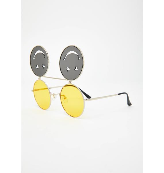 Crazed Daze Smiley Sunglasses