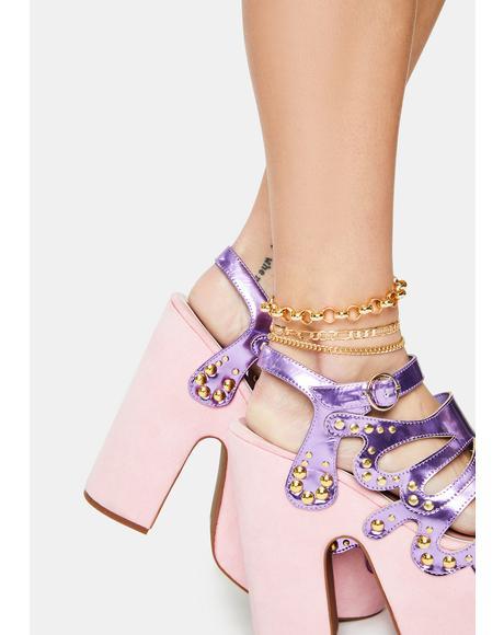 Promise Me BB Chain Anklet Set