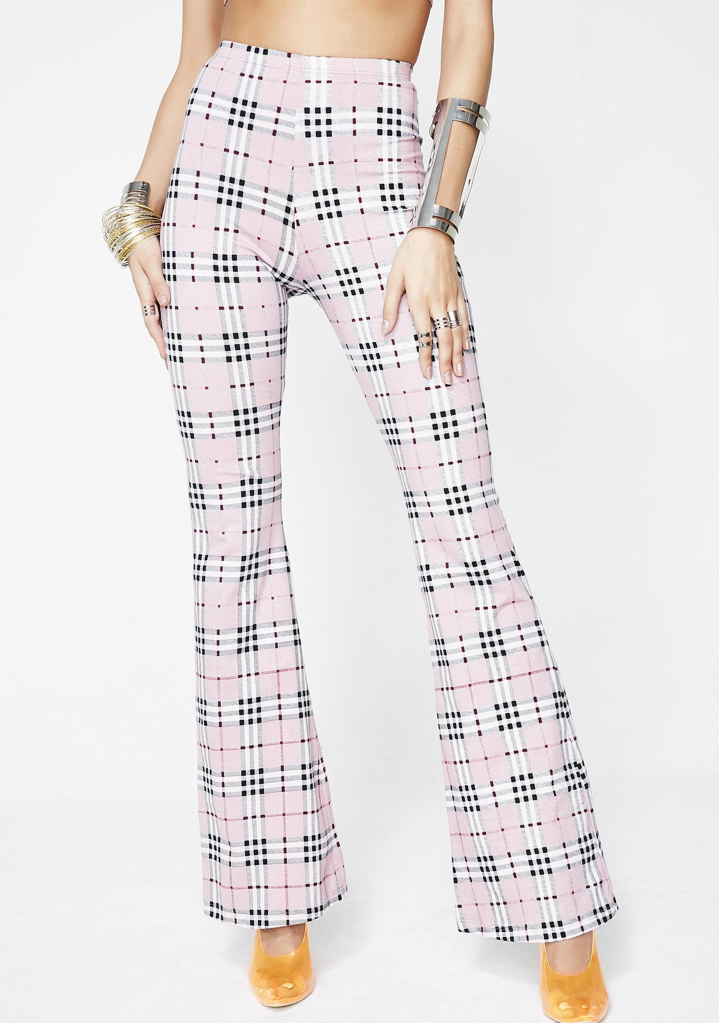 Motel Pink Check Jeevan Twinset