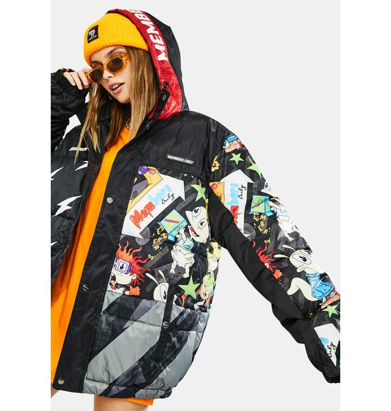 Members Only Nickelodeon Puffer Jacket
