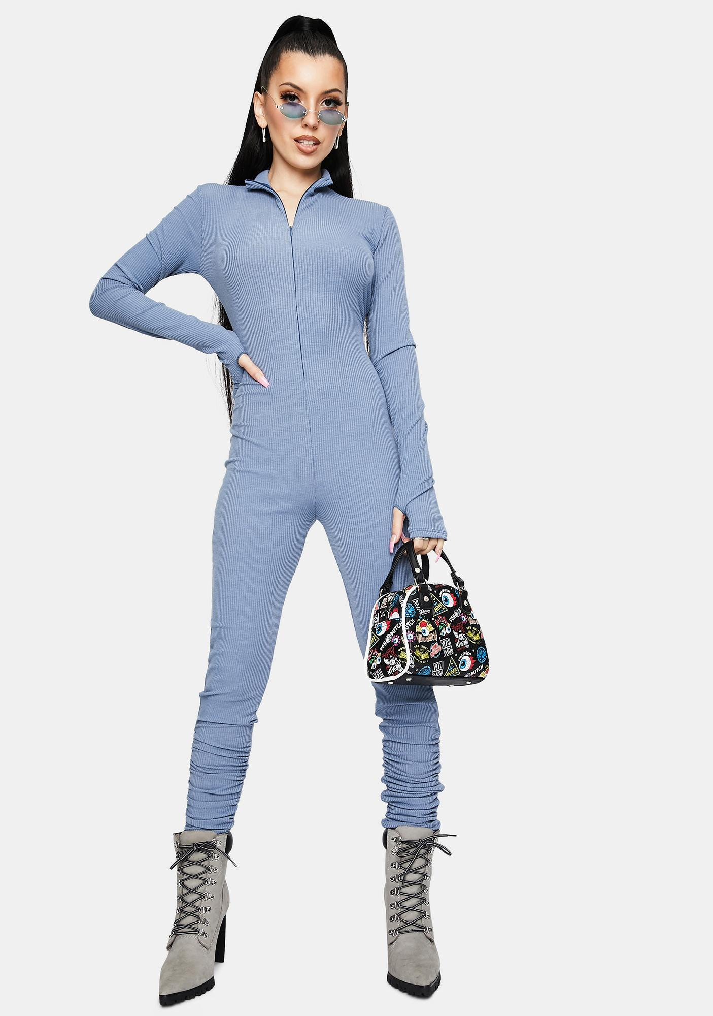 Never Hold Back Zip Up Jumpsuit
