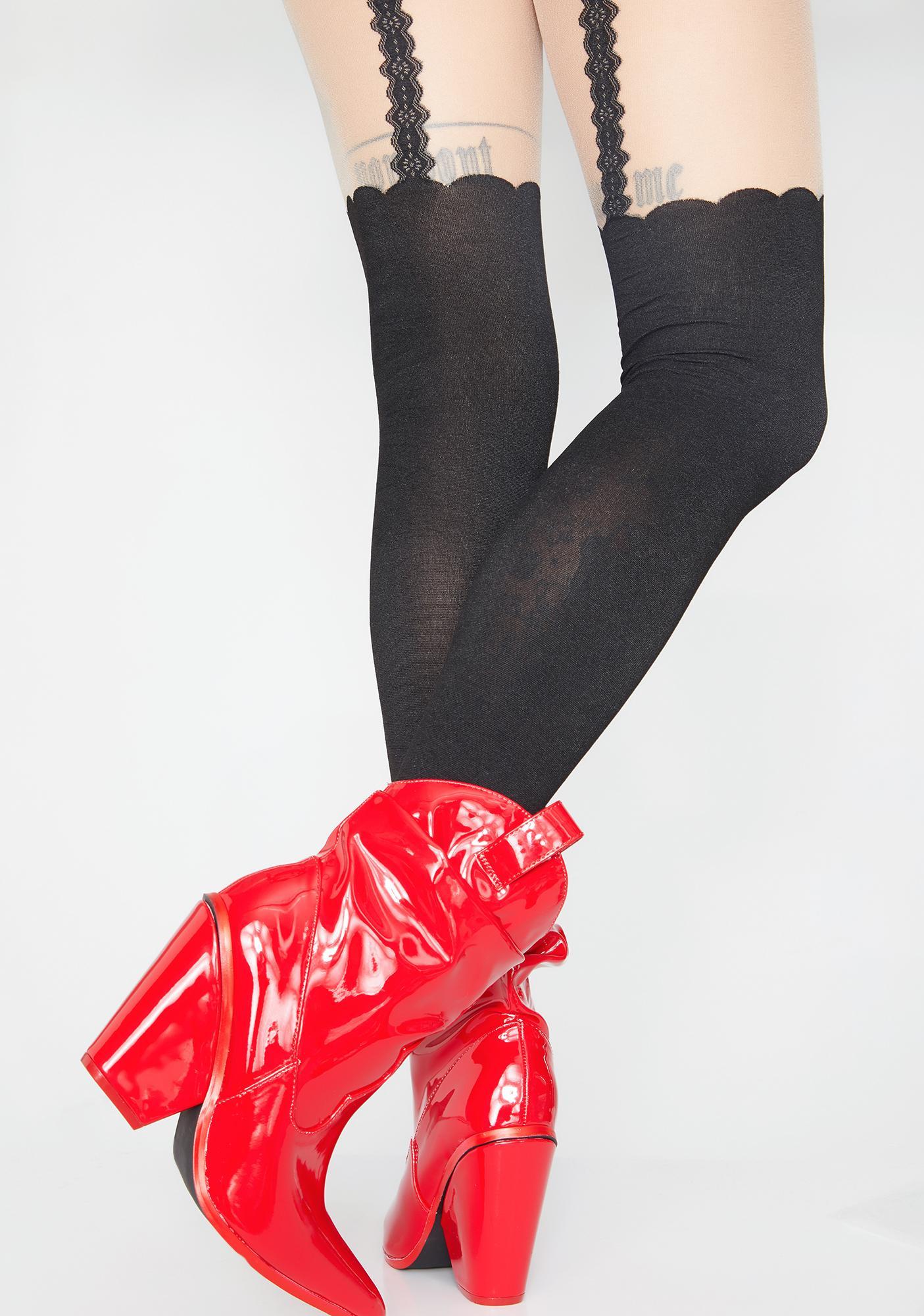 Cute N' Charming Suspender Tights