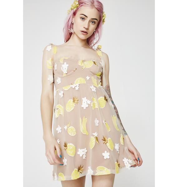 For Love & Lemons Fruitpunch Sequin Mini Dress