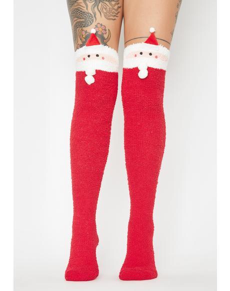 Keepin' A List Santa Socks