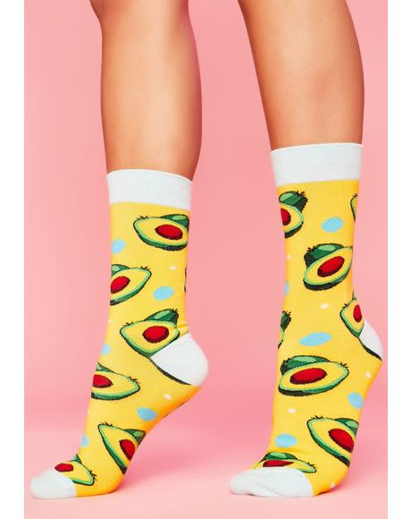 Just Needs Toast Avocado Socks
