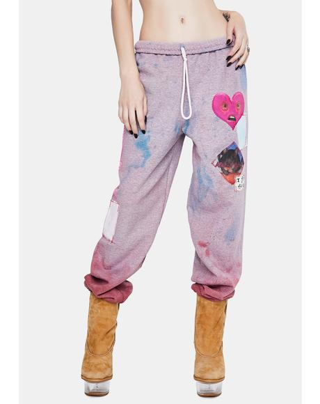 NYC QT Patchwork Sweatpants