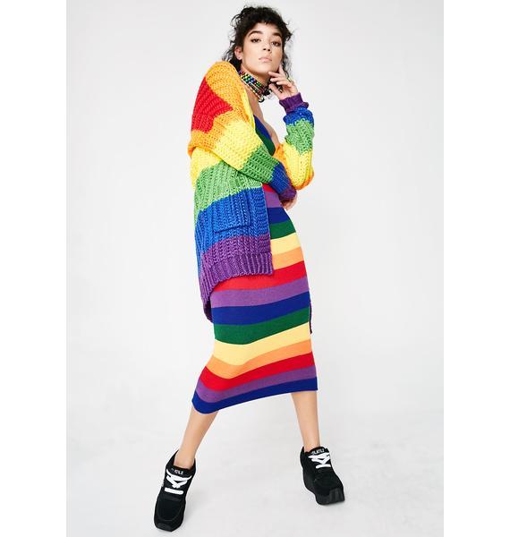 Rainbow Aura Strapless Dress