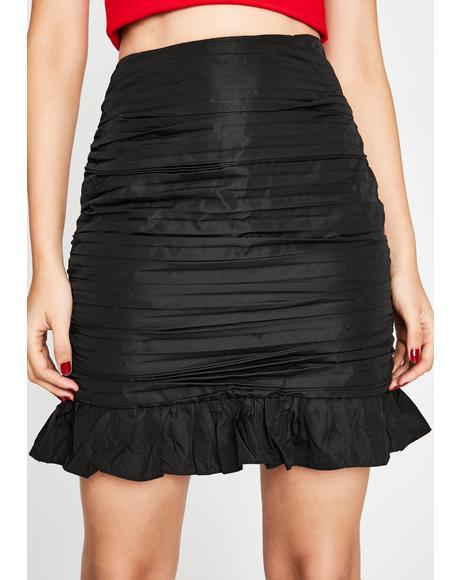 Frisky Nights Ruffle Skirt
