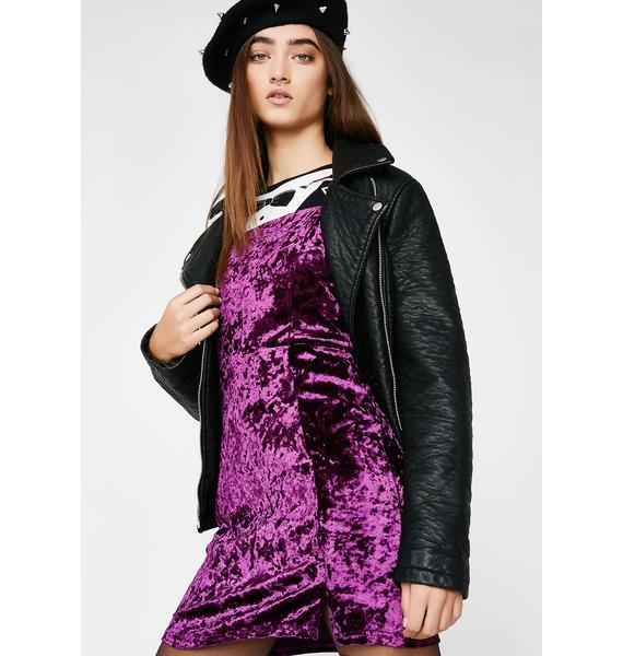 Vino Crush Velour Dress