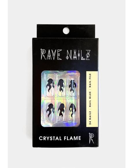 Crystal Flame Press On Nailz