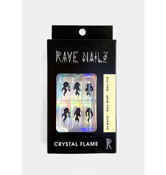 Rave Nailz Crystal Flame Press On Nailz