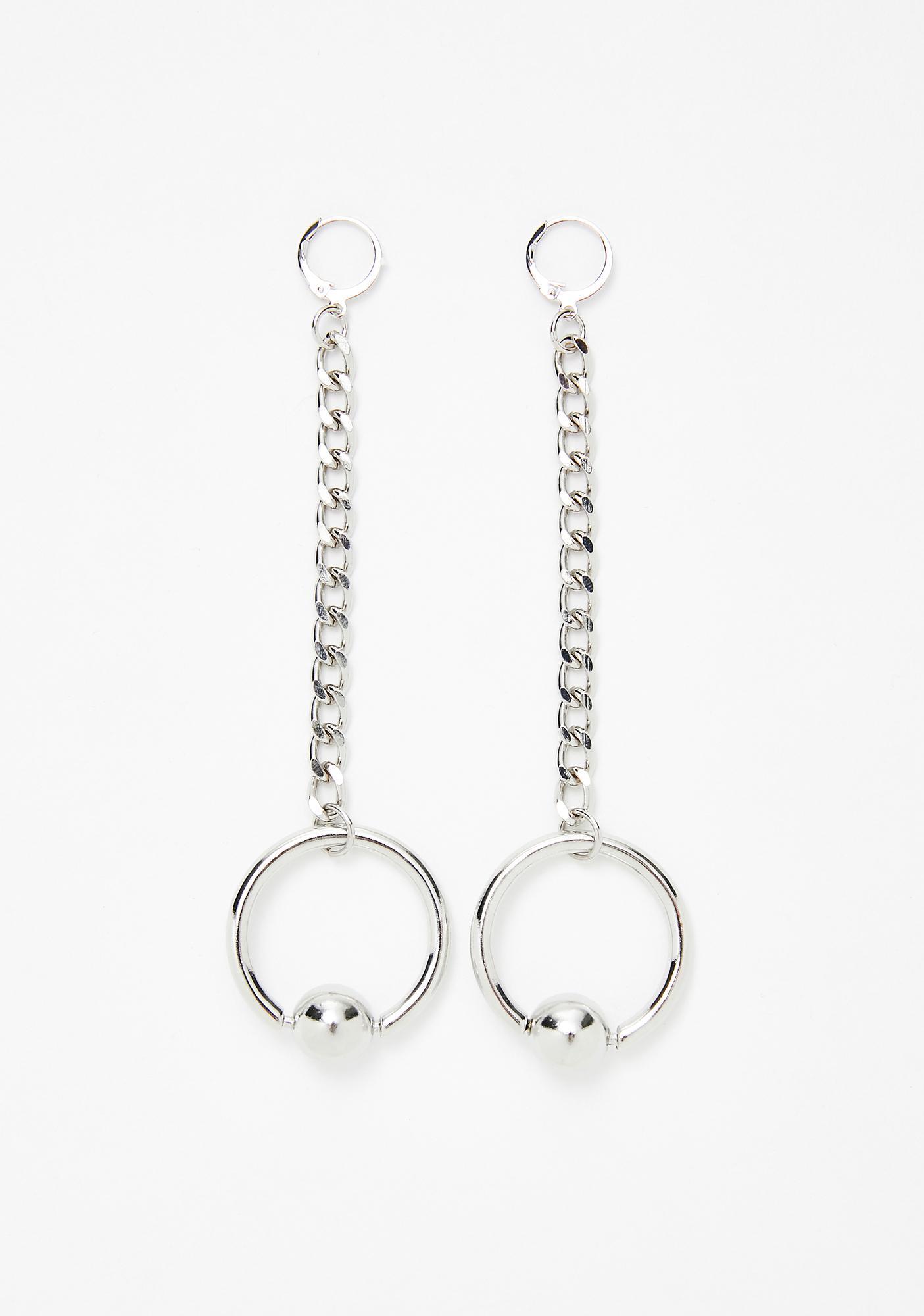 Piercing Love Chain Earrings