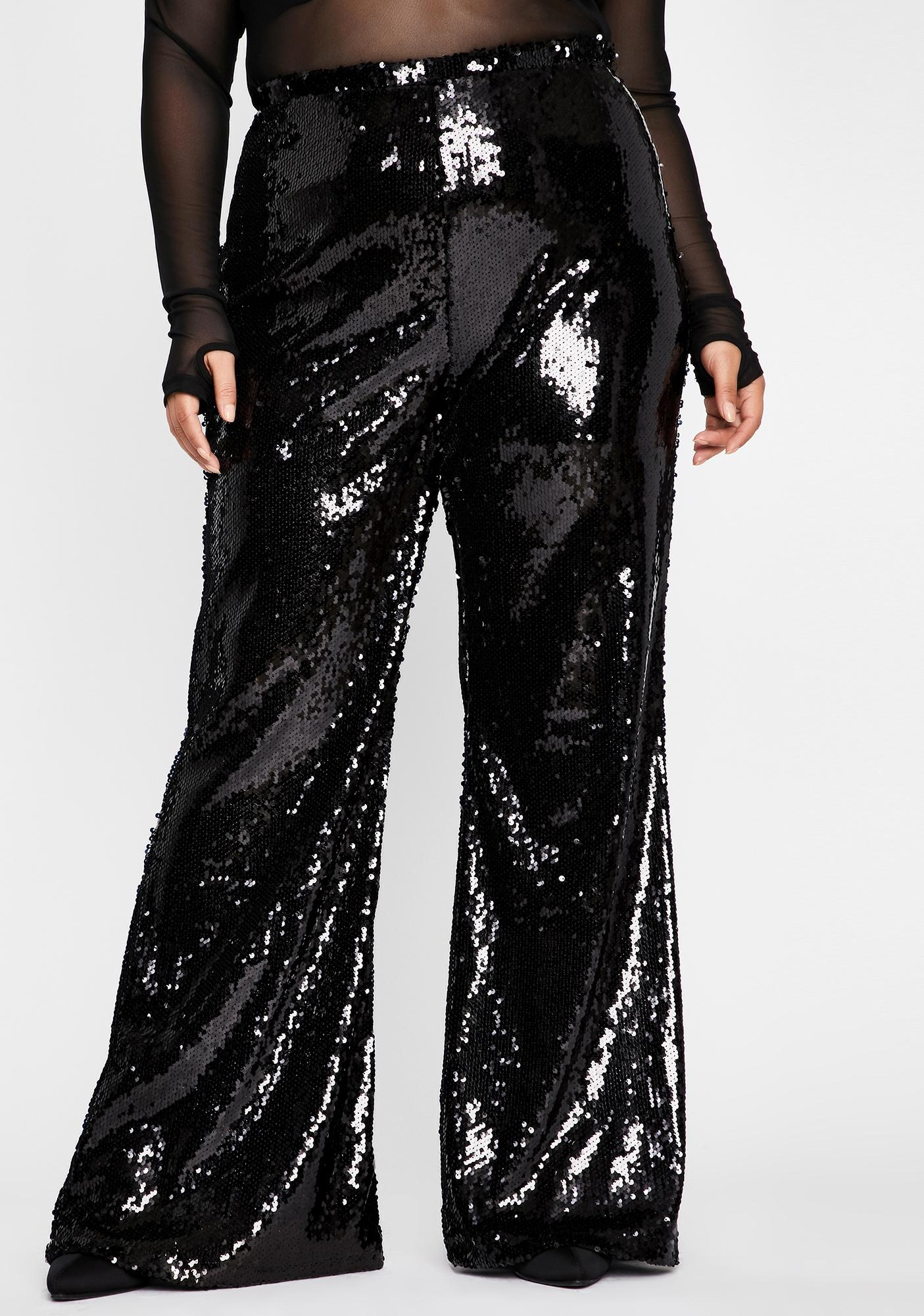 She's Wicked Superficial AF Sequin Flares