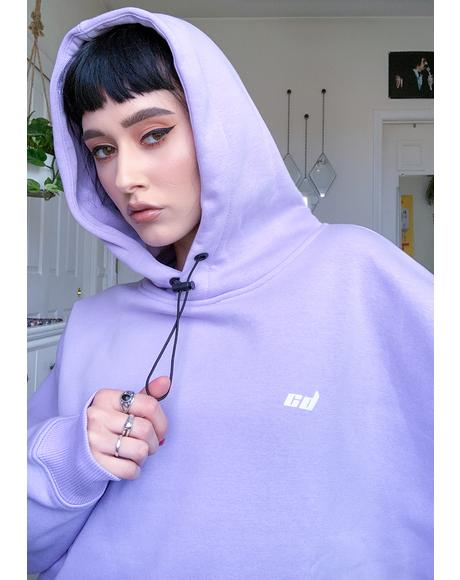 Purple Toggle Hoodie Sweatshirt