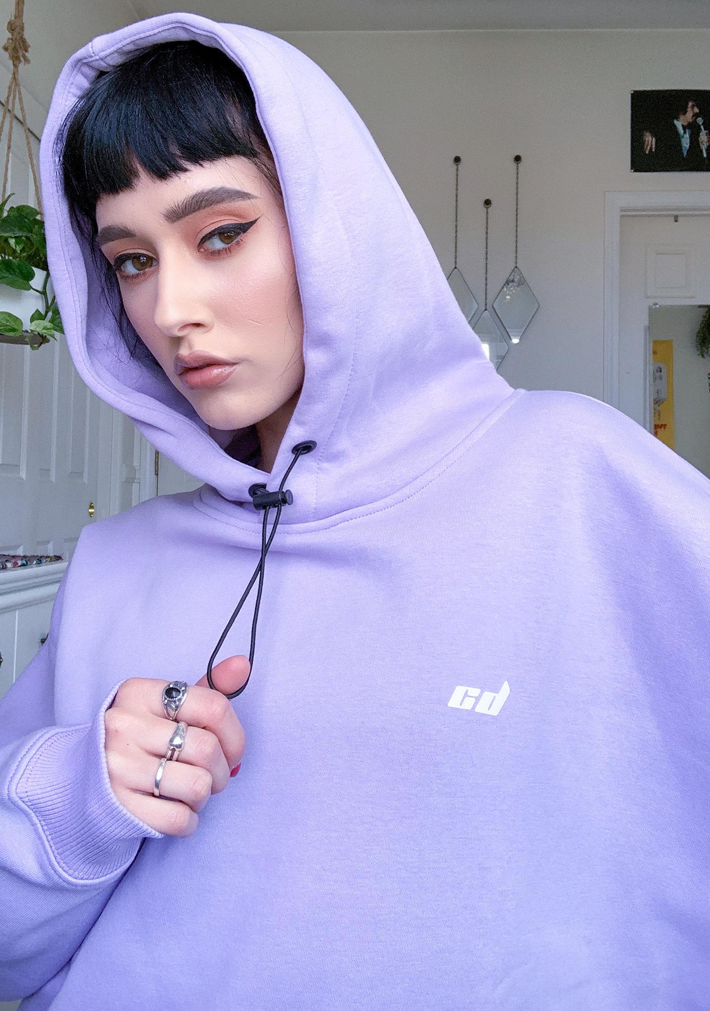 Criminal Damage Purple Toggle Hoodie Sweatshirt