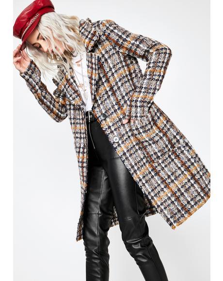 Windy City Tweed Coat
