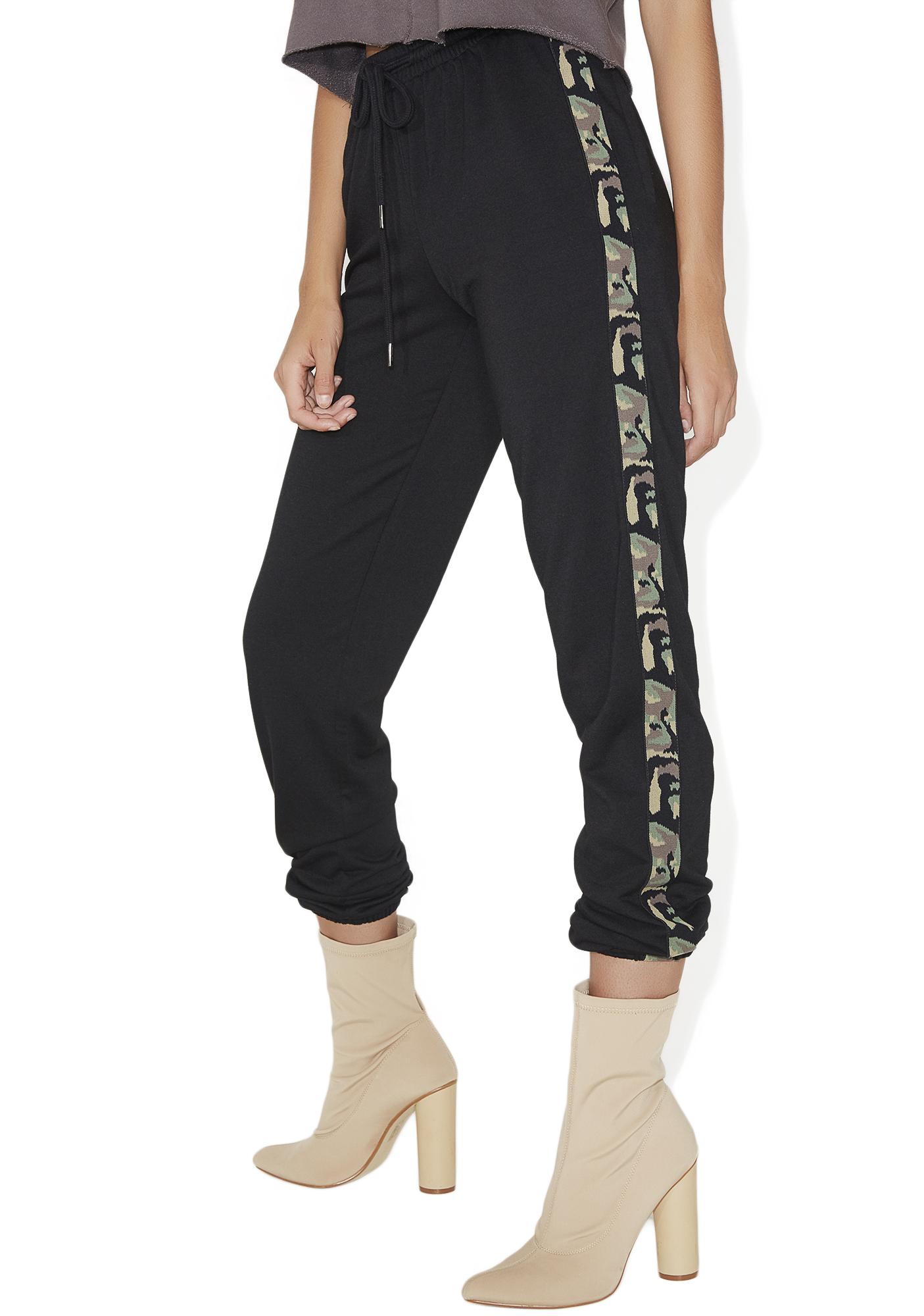 Camoflauge Stripe Jogger Sweatpants