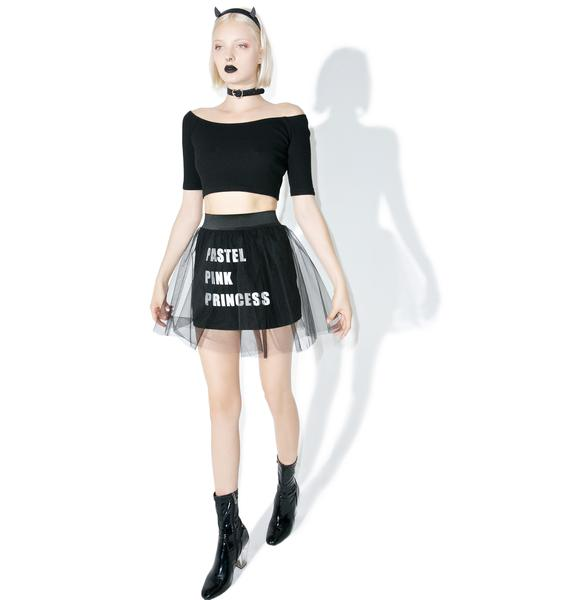 one spo Sheer Logo Skirt