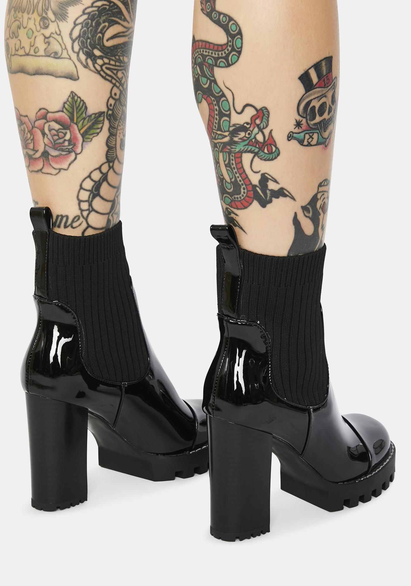 AZALEA WANG Maison Patent Chelsea Boots