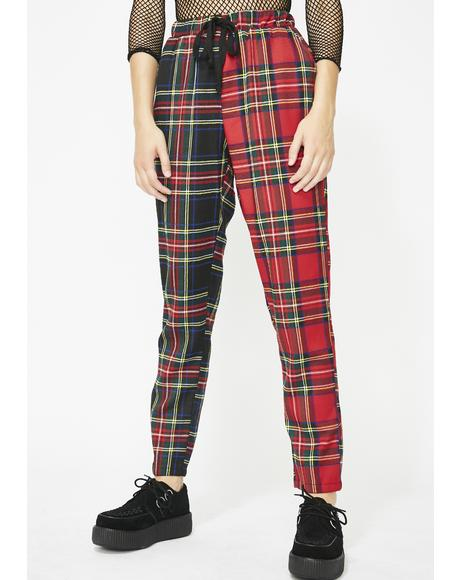Too Faced Plaid Joggers