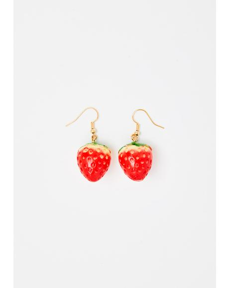 Berry Yummy Strawberry Earrings
