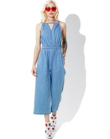 What A Feelin' Denim Jumpsuit